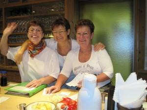 Wir begrüssen Sie bei uns, v.l. Heike Brotz, Bettina Knobloch u. Anette Bartmann